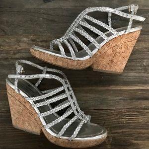 Kate Spade Felix Cork Wedges Sandals